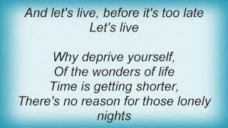 Aaron Neville - Let's Live Lyrics