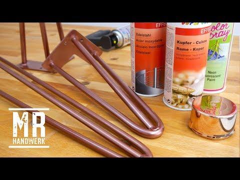 Hairpin - Metall Tischbeine mit der Sprühdose selbst lackieren.