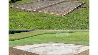Building a Basketball concrete pad start to finish!