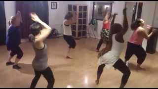 P square shekini DANCE CHOREOGRAPHY teaching at 6 months pregnant