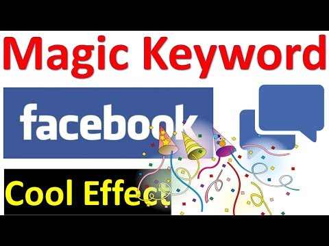 Facebook Magical Comment Keyword | Cool Facebook Effects