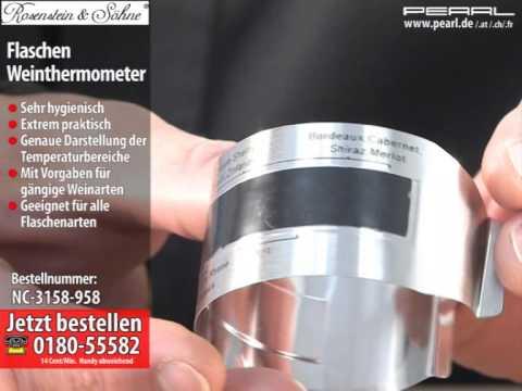 Rosenstein & Söhne Flaschen Weinthermometer