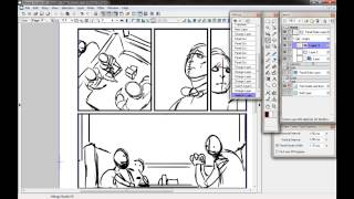 Preparing a Comic Page in Manga Studio - Scribbles With Jonathan