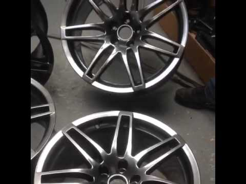 Audi RS4 Wheels finished in black chrome
