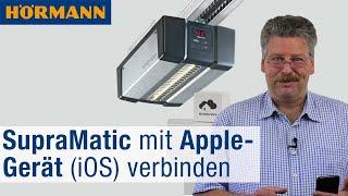 Hörmann homee: Garagentor-Antrieb SupraMatic mit Apple-Gerät (iOS) verbinden | Hörmann