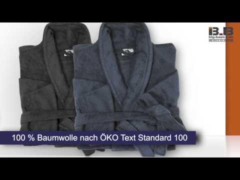 Bademantel aus Baumwollfrottier von Abraxas in Übergrößen bis 10XL bei Big-Basics.de