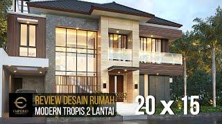 Video Desain Rumah Modern 2 Lantai Bapak Iqbal di  Jakarta Timur
