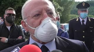 """De Luca: """"Ad Ariano Irpino fatto l'impossibile per spegnere il focolaio, ora la ripartenza"""""""
