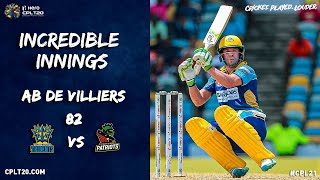 An AMAZING batting display by AB De Villiers at the Kensington Oval!
