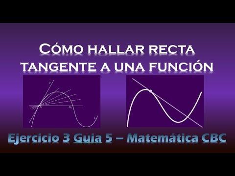 Cómo encontrar recta tangente a una función - Matemática CBC (UBA) - Ejercicio 3 Guía 5