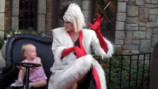 Cruella struts around Disneyland