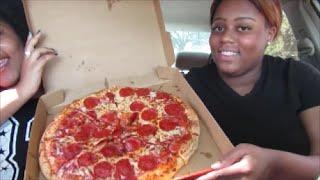 LITTLE CAESARS PIZZA MUKBANG EATING SHOW
