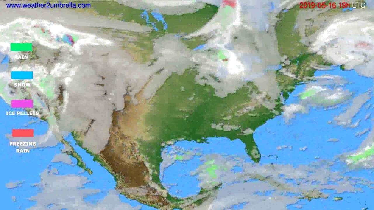 Precipitation forecast USA & Canada // modelrun: 12h UTC 2019-05-13