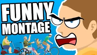 FUNNY HAPPY WHEELS MONTAGE (TRY NOT TO LAUGH)