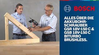 Alles über die Bosch Professional GSR 18V-150 C & GSB 18V-150 C BITURBO Brushless Akkubohrschrauber