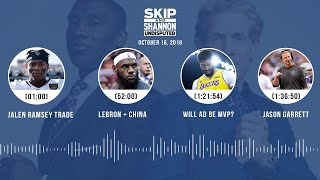 UNDISPUTED Audio Podcast (10.16.19) with Skip Bayless, Shannon Sharpe & Jenny Taft   UNDISPUTED