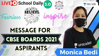 Message for CBSE Boards 2021 Aspirants | Strong Motivation by Monica Bedi  - MONICA