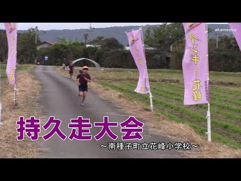 花峰小学校持久走大会令和2年〜種子島の学校活動