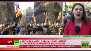Landmark Vote: Catalan parliament votes for independence from Spain