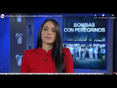 Transmisión en vivo Noticias #SINFindeSemana 17/11/2019