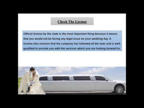 Tips to Find the Right Wedding Limousine Service