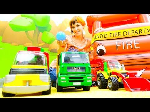 Веселая Школа с Машей Капуки Кануки - Видео для детей - Играем с машинками