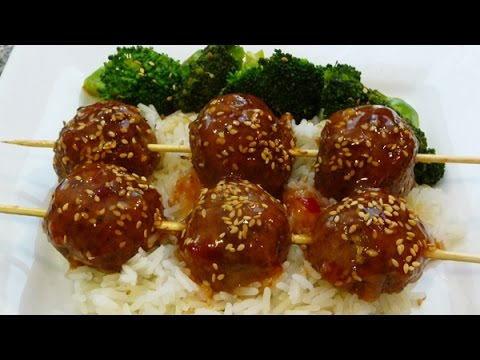 Albondigas Agridulces, comida china, receta salsa agridulce,