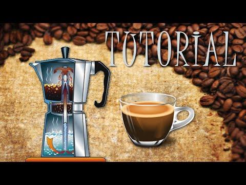 Preparar café en cafetera italiana
