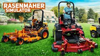 Rasenmäher Simulator: Im Vorgarten unterwegs mit dem Aufsitzrasenmäher    Lawn Mowing Simulator