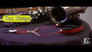 BG Cordon Zen pour saxo - Mousqueton métal - Rouge - Video
