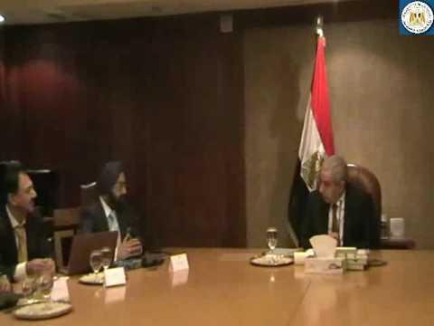 الوزير/طارق قابيل يبحث إقامة مشروع مصري هندي مشترك لإنتاج الفوسفات برأسمال 40 مليون دولار