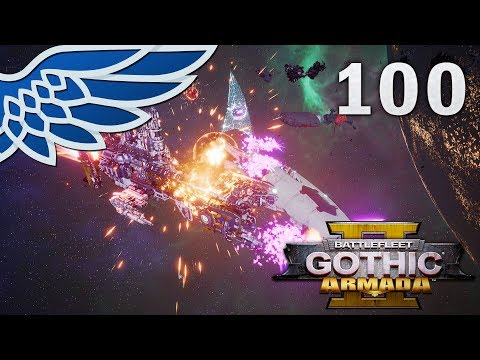 BATTLEFLEET GOTHIC ARMADA 2 | Eldar Chase Part 100 - Imperial Campaign BFGA2 Let's Play Gameplay