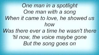 Barry Manilow - One Man In A Spotlight Lyrics_1