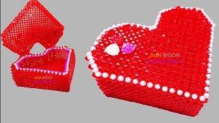 পুতির লাভ বক্স/ How To Make Beaded Love Box/ Beaded Ornaments Box/beaded Jewelry Box/putir Love Box