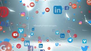 social media logo animation - YouTube   social media icons animation   Royalty Free Footages