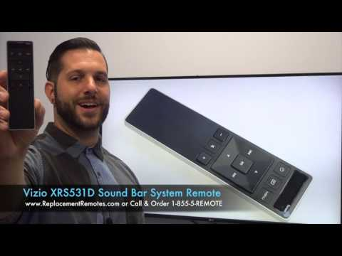 VIZIO XRS551iC/XRS531D Sound Bar System Remote Control