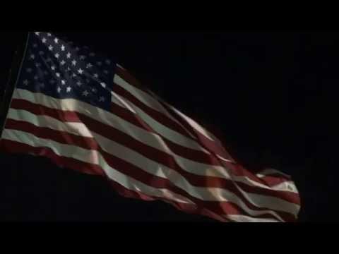 [10 Hours] American Flag Waving at Night - Video & Audio [1080HD] SlowTV