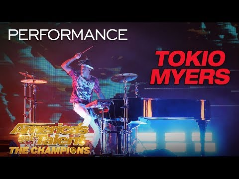 "Tokio Myers: Cool Musician Performs ""Bloodstream"" - America's Got Talent: The Champions (видео)"