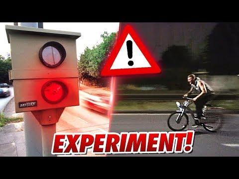 EXPERIMENT: Mit Fahrrad blitzen lassen ?!