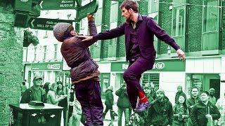 Drunk Guys Piss Off Street Performer!