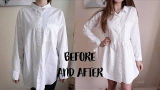 Super Easy Shirt Refashion, Recycle / Как Перешить 2 Рубашки в Платье