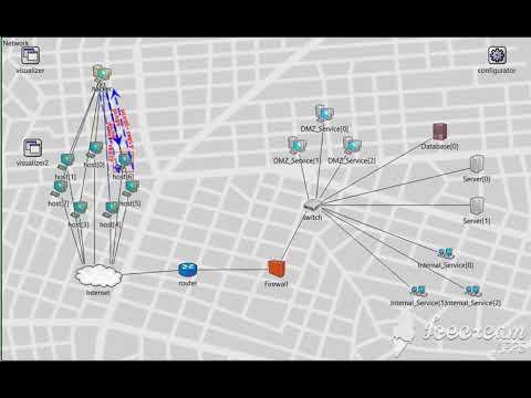 DDoS Simulation of Ping of Death (OMNET++) - смотреть онлайн