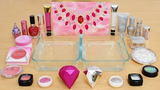 Pink vs Diamonds - Coloring Satisfying Slime ASMR with Eyeshadow and Makeup