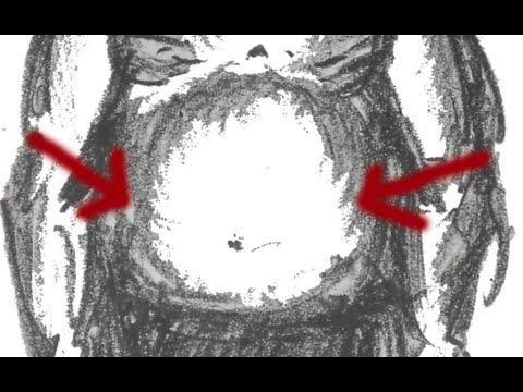 Wie die herunterhängenden Seiten auf dem Rücken zu entfernen