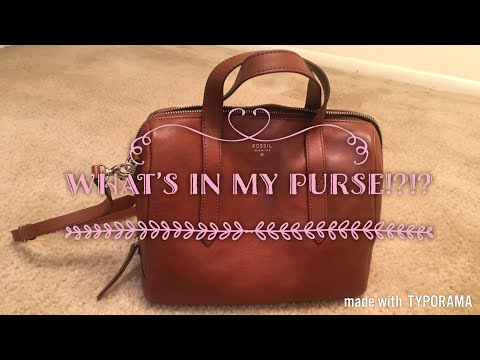 What's in my Purse?? | Fossil Sydney Satchel in Brown