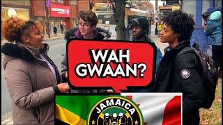 Asking Canadians to speak Jamaican Patois (Halifax, NS)