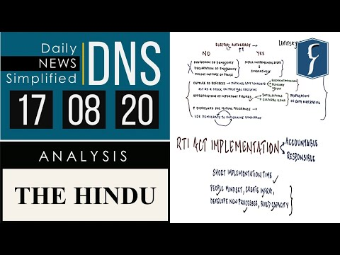 THE HINDU Analysis, 17 August 2020 (Daily News Analysis for UPSC) – DNS