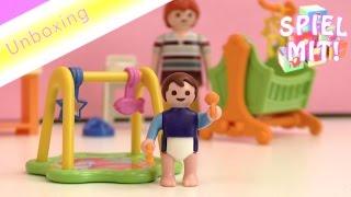 Plamobil Puppenhaus Kinderzimmer (5304): komplett mit Wiege Wickeltisch Hochstuhl! Dollhouse