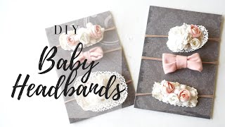 DIY BABY HEADBANDS| Easy No Sew