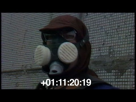 Footage of the Chernobyl Liquidators shoveling radioactive debris off the roof